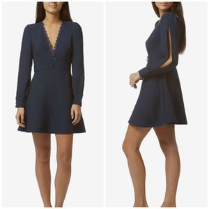 Avec Les Filles REVOLVE navy fit and flare dress